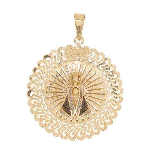 Pingente em Ouro 18k/750 Mandala Nossa Senhora Aparecida 300 Anos