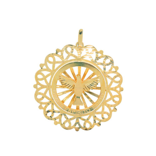 Pingente em Ouro 18k/750 Mandala Espirito Santo