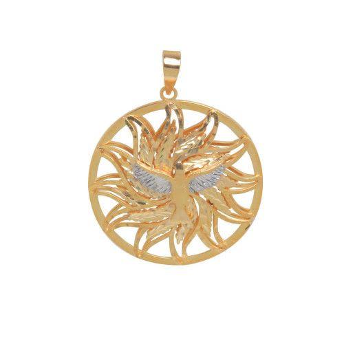 Pingente em Ouro 18k/750 Mandala Dupla Espirito Santo