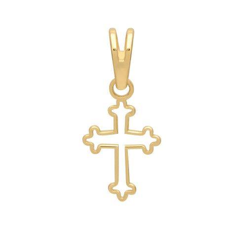 Pingente em Ouro 18k/750 Cruz Vazada Pequena