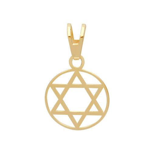Pingente em Ouro 18k/750 Estrela de Davi com Aro