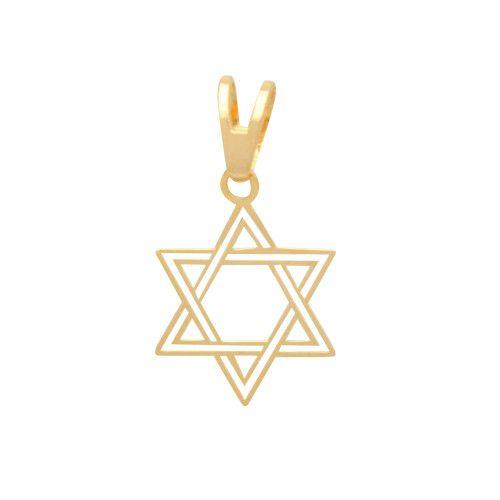 Pingente em Ouro 18k/750 Estrela de Davi Vazada
