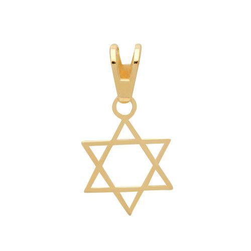 Pingente em Ouro 18k/750 Estrela de Davi