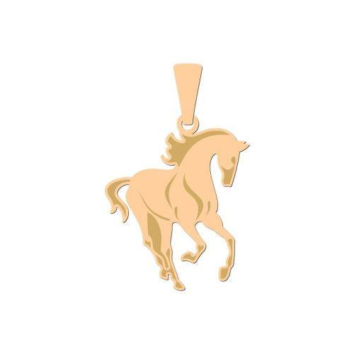 Pingente em Ouro 18k/750 Cavalo Liso com Fosco