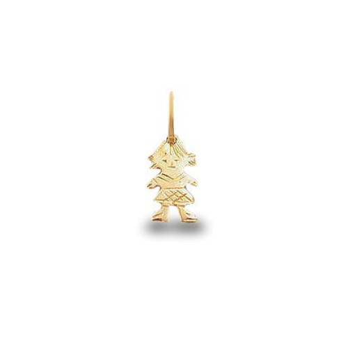Pingente em Ouro 18k/750 Menina Diamantada Mini