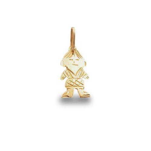 Pingente em Ouro 18k/750 Menino Diamantado