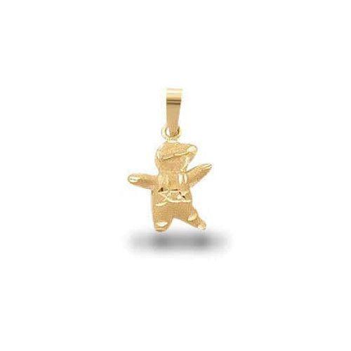 Pingente em Ouro 18k/750 Menino Diamantado Mini