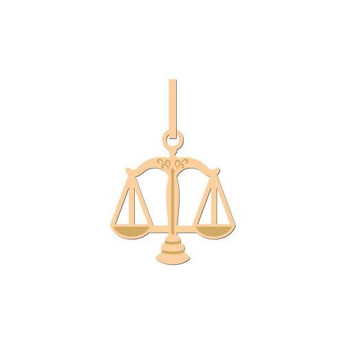 Pingente em Ouro 18k/750 Direito Simbolo Pequeno
