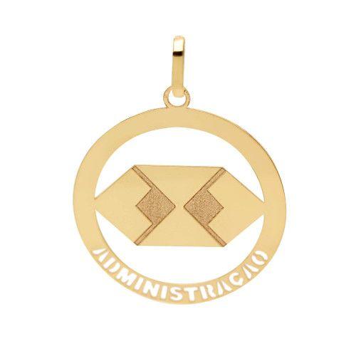 Pingente em Ouro 18k/750 Profissão Administração