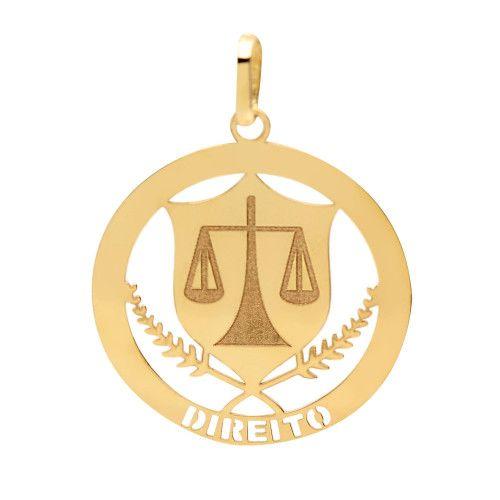 Pingente em Ouro 18k/750 Profissão Direito
