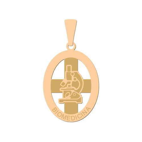 Pingente em Ouro 18k/750 Profissão Biomedicina