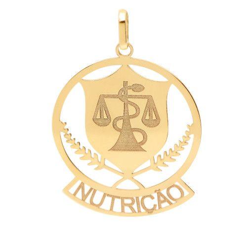 Pingente em Ouro 18k/750 Profissão Nutrição