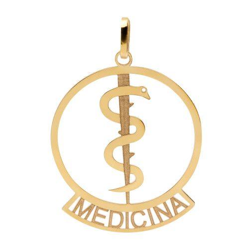 Pingente em Ouro 18k/750 Profissão Medicina