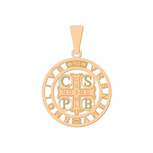 Pingente em Ouro 18k/750 São Bento com Detalhes Fosco Médio