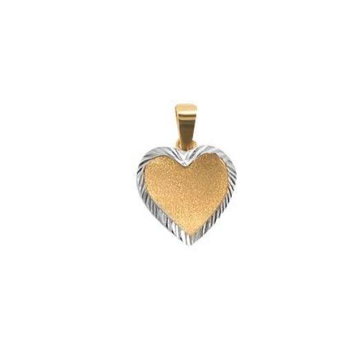 Pingente em Ouro 18k/750 de Coração Diamantado com Ródio