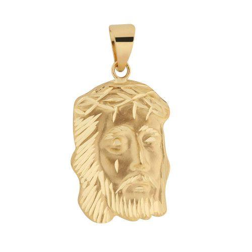 Pingente em Ouro 18k/750 Face de Cristo 23mm x 16mm