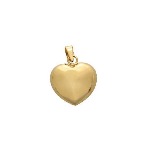 Pingente em Ouro 18k/750 Coração Duplo Liso Médio