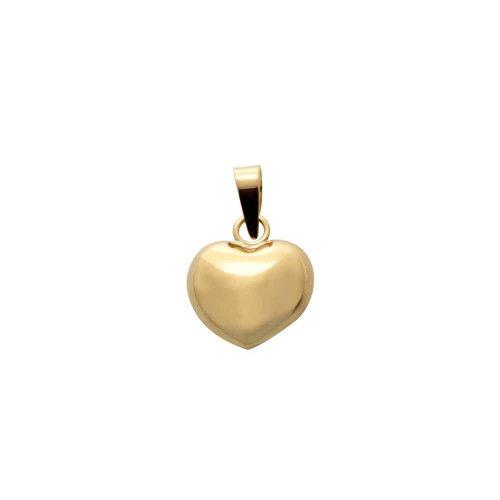 Pingente em Ouro 18k/750 Coração Duplo Liso Pequeno