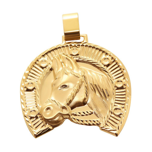 Pingente  em Ouro 18k/750 Ferradura Grande