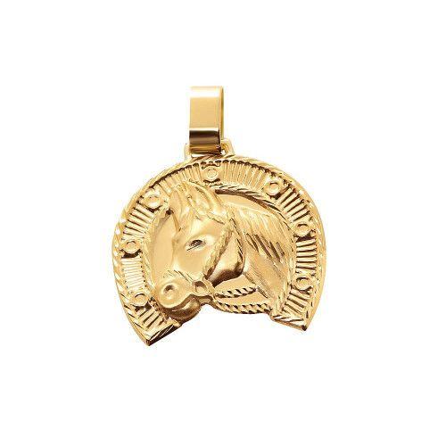 Pingente  em Ouro 18k/750 Ferradura Pequeno