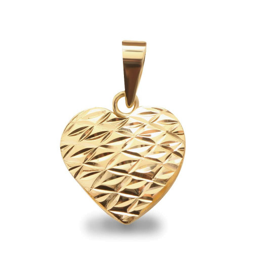Pingente em Ouro 18k/750 Coração Diamantado
