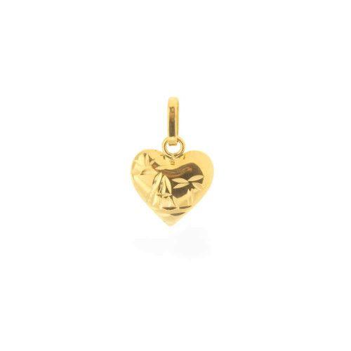 Pingente em Ouro 18k/750 Coração Escrava