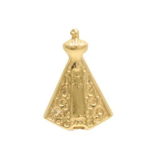 Pingente em Ouro 18k/750 Nossa Senhora Aparecida 10mm x 6mm