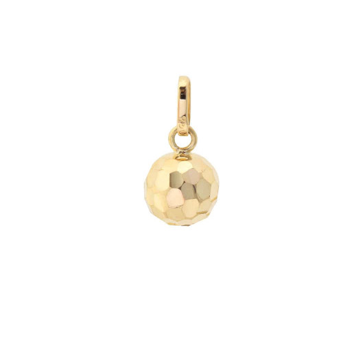Pingente em Ouro 18k/750 Bola 7mm Diamantada