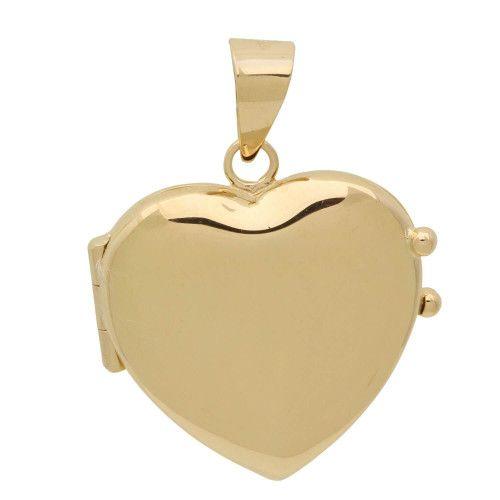 Pingente em Ouro 18k/750 Relicário Coração Liso