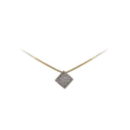 Pingente em Ouro 18k/750 Chuveiro 6mm com Diamantes