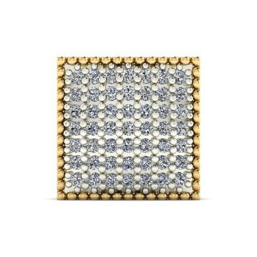 Pingente em Ouro 18k/750 Chuveiro Quadrado 12mm