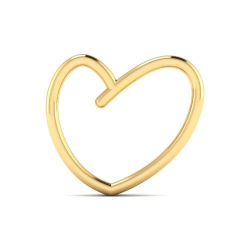 Pingente em Ouro 18k/750  Coração Fio Duplo