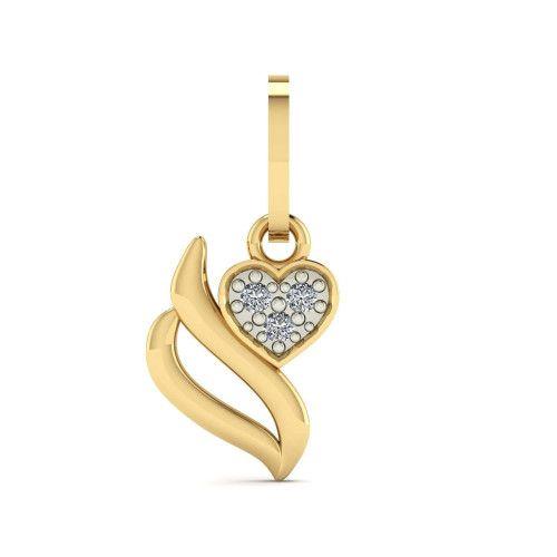 Pingente em Ouro 18k/750 Coração S