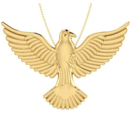 Pingente em Ouro 18k/750 Espírito Santo 29.9mm x 43mm