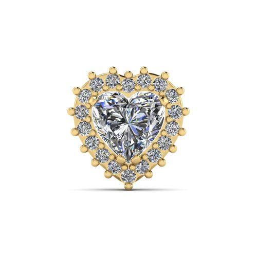 Pingente em Ouro 18k/750 Chuveiro de Coração