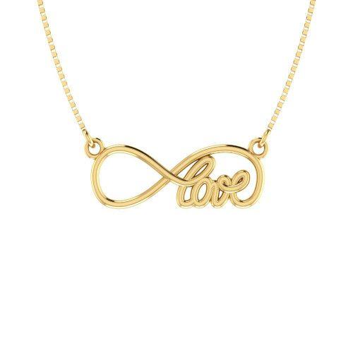 Gargantilha em Ouro 18k/750 Love com Corrente Veneziana