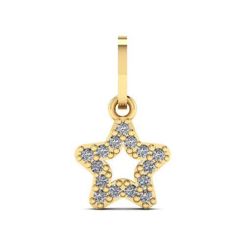 Pingente em Ouro 18k/750 Estrela com Zircônia