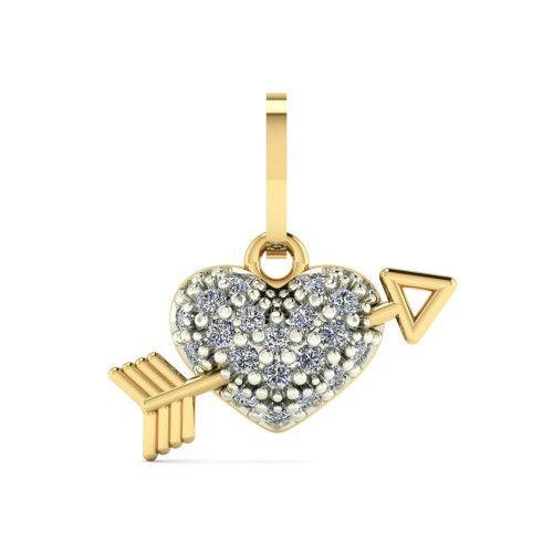 Pingente em Ouro 18k/750 Coração Cupido