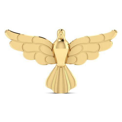 Pingente em Ouro 18k/750 Espírito Santo Médio Liso