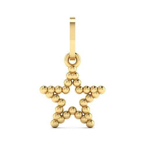 Pingente em Ouro 18k/750 Estrela Bolinha