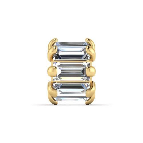 Pingente em Ouro 18k/750 Separador com 8 Pedras de Zircônia