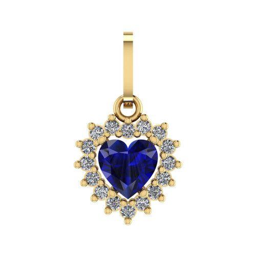 Pingente em Ouro 18k/750 de Coração com Zirconia