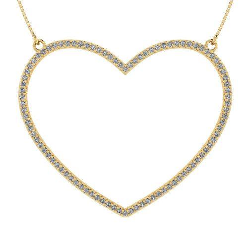 Gargantilha em Ouro 18k/750 Coração com Zircônia Grande