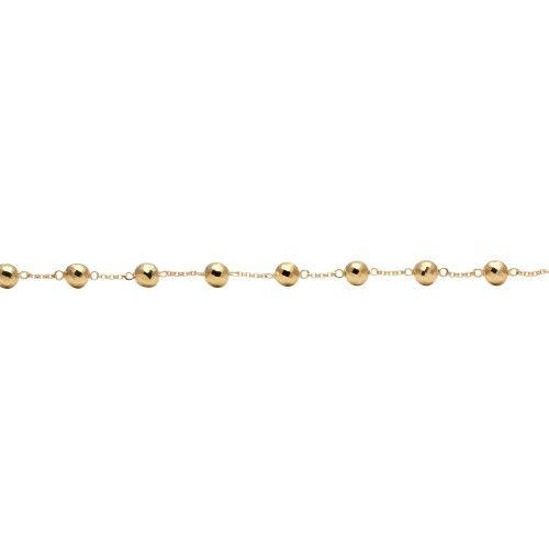 Pulseira em Ouro 18k/750 Bola Diamantada 5mm