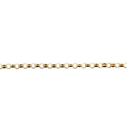 Pulseira em Ouro 18k/750 Malha Portuguesa 19cm Fina