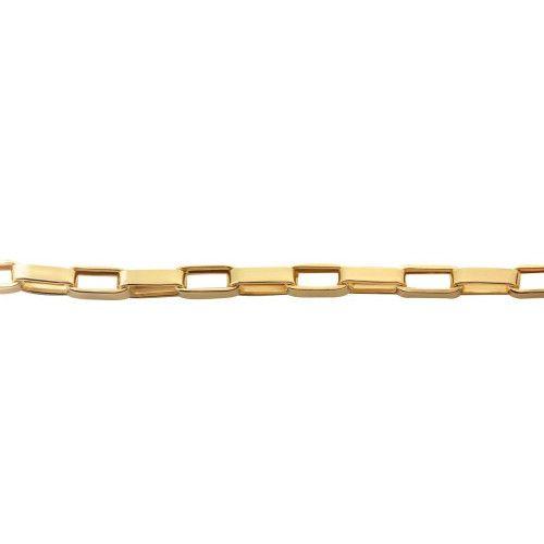 Pulseira em Ouro 18k/750 Malha Cartier de 21cm Grossa