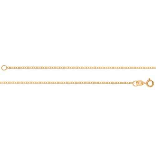 Corrente em Ouro 18k/750 Piastrini Diamantada Fina