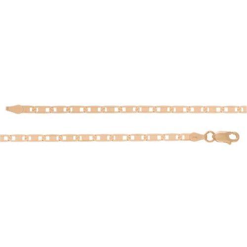 Corrente em Ouro 18k/750 Piastrini Diamantada Grossa
