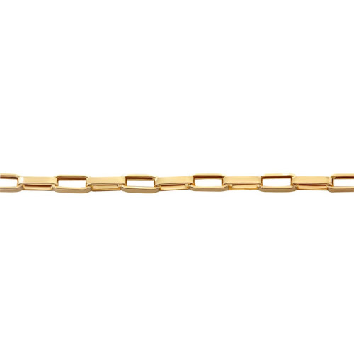 Corrente em Ouro 18k/750 Malha Cartier 60cm Médio