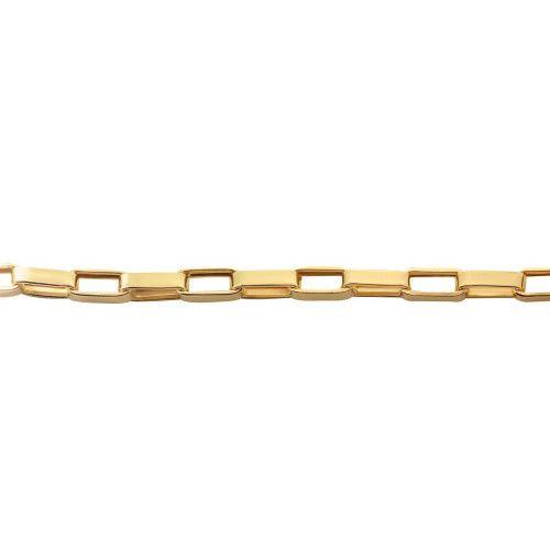 Corrente em ouro 18k/750 Malha Cartier 60cm Grossa
